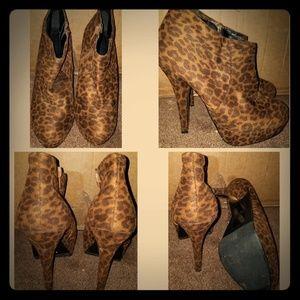 XX1 Cheetah Print Booties